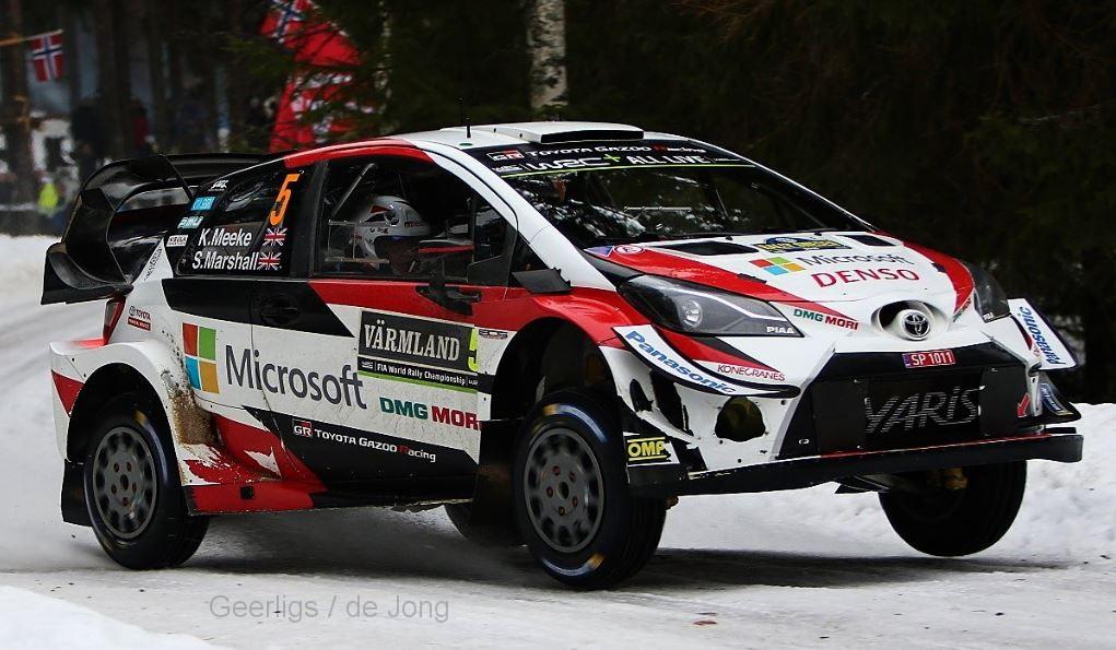 Toyota YARIS WRC 5 MEEKE/MARSHALL WRC RALLY SWEDEN 2019 IXO (1:43)
