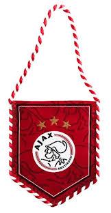 Ajax Banier Rood logo 8x10cm (BANI010301)