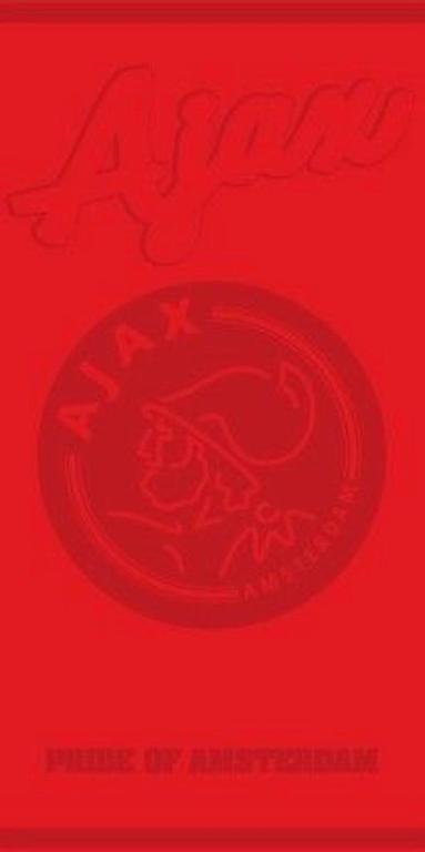 Ajax Handdoek Rood 3 Sterren 100 x 50