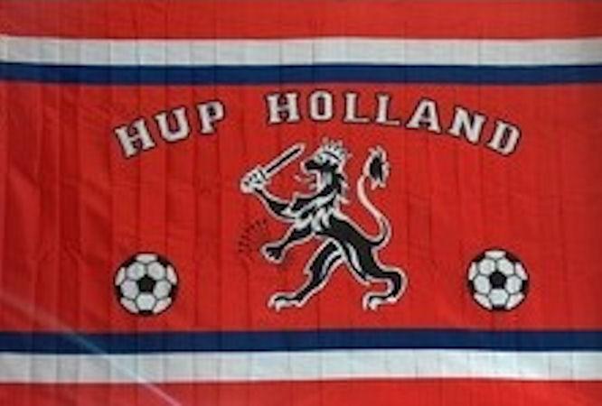 Vlag Holland Leeuw & Voetballen