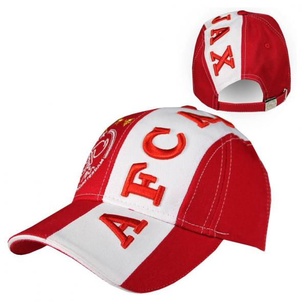 Ajax Cap Senior Rood/Wit 3D AFC