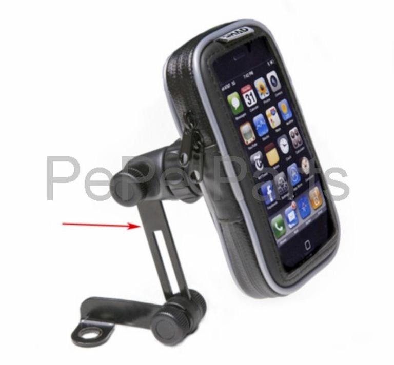 Houder iphone 3.8 inch waterdicht spiegelbevestiging Shad