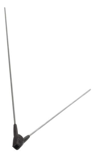 BAT SPATD STANG 28 DRAAD SKS RVS/PVC