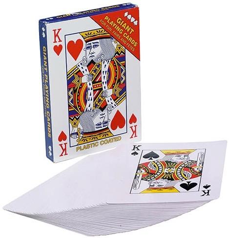 Speelkaarten groot 17x12 cm (79086)