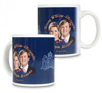 Mok Koning en Koningin Familie Blauw (9.5 x 8 cm)