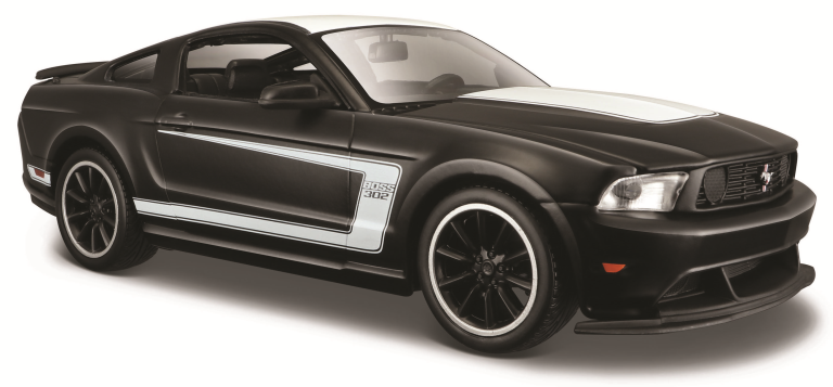 FORD MUSTANG BOSS 302 (DULL BLACK COLLECTION) (MAISTO 1:24)