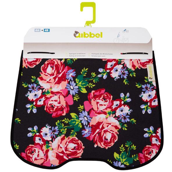 Qibbel Stylingset windschermflap Roses Zwart