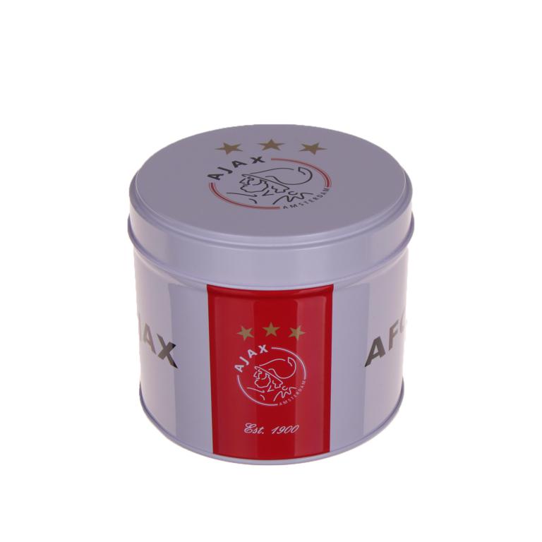 Ajax-blik wit-rood logo winegums NIEUW!