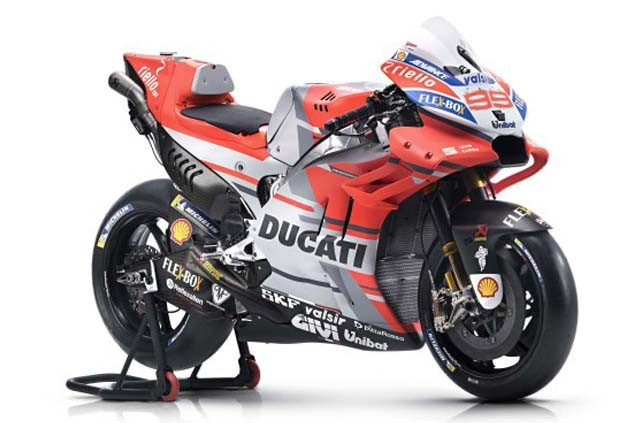 Ducati DESMOSEDICI 99 JORGE LORENZO MOTO GP 2018 rood/grijs/wit (MAISTO 1:18) 52814-31593L