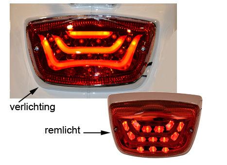 ACHTERLICHT LED LXV/VESPA/S ROOD DPM